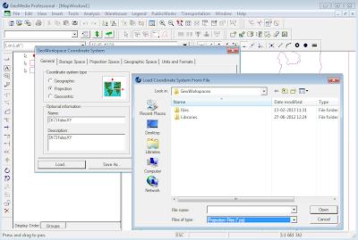 intergraph geomedia professional users: using *.prj esri
