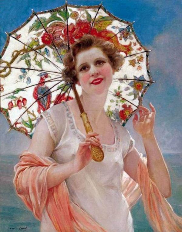 François Martin Kavel | Rain art, Umbrella art, Beautiful