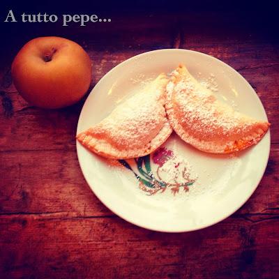 mezzelune alle mele caramellate allo zafferano... bonjour et bonheur!
