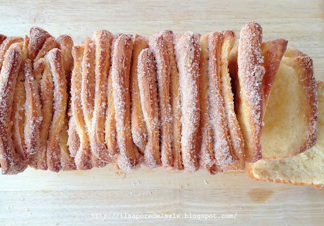 cinnamon and sugar pull-apart bread.. un pane goloso!