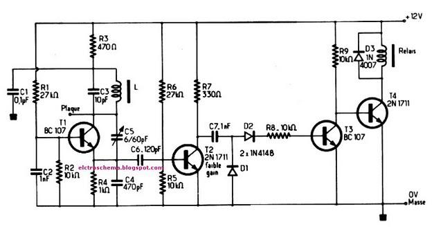 Schema electronique simple montages electrique schema electronique detecteur d 39 approche a base - Schema electronique detecteur de mouvement ...