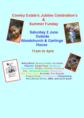 Cowley Estate Jubilee celebration flyer