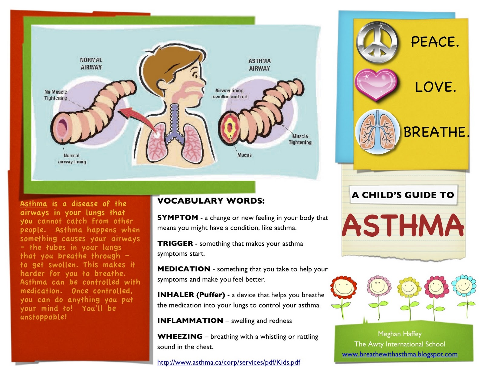 Asthma Awareness For Adults And Children A Childs Guide To - Asthma brochure template