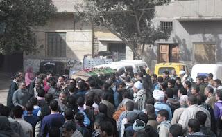 بالصور تشييع جثامين شهداء سوهاج