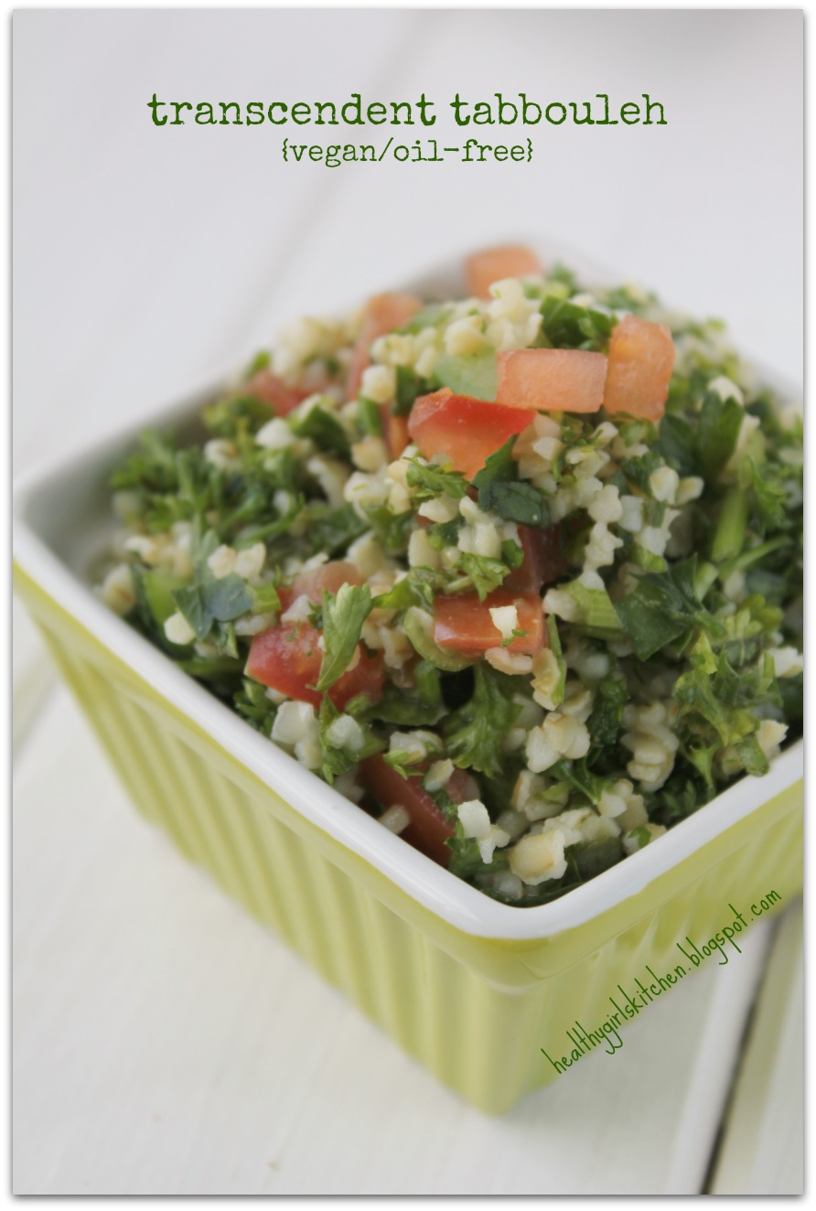 Healthy Girl's Kitchen: Transcendent Tabbouleh. Oil-free.