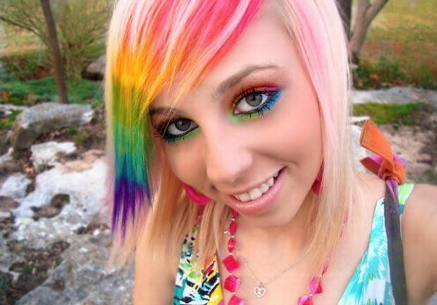 pretty scissors amazing rainbow