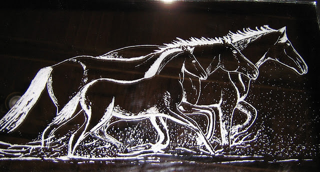 modele de dessin sur verre