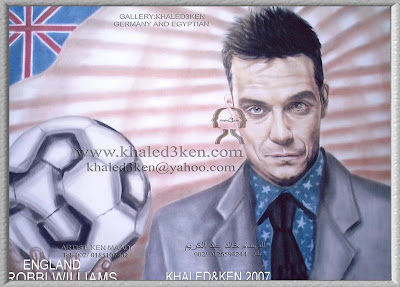 STARS ENGLAND ROBBIE WILLIAMS Portrait Drawing Soccer Football Khaled3Ken Gallery