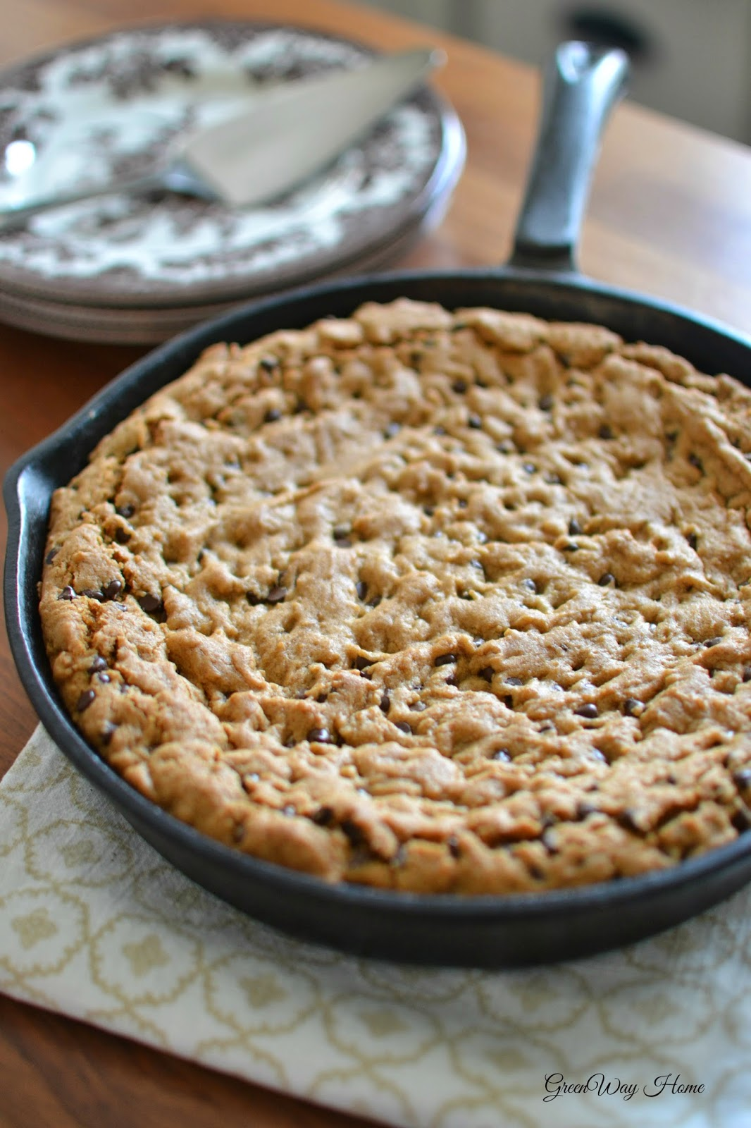 GreenWay Home: recipe | skillet chocolate chip cookie