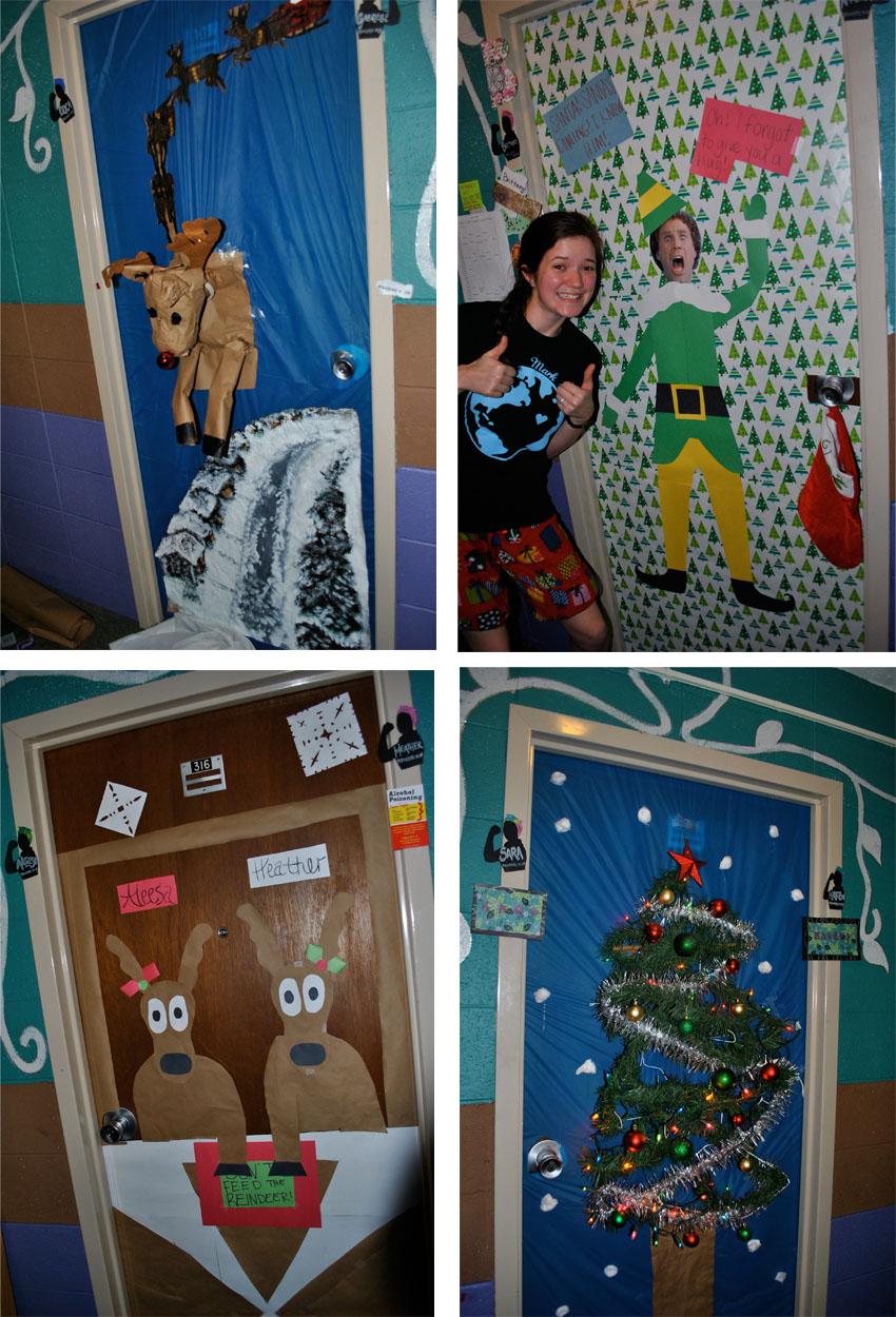 Christmas dorm door decorations - Flashback Summer Christmas Festivities Come To The Dorm Evangel University Spence Girls
