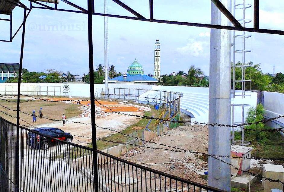 gambar terbaru kondisi Stadion 17 Mei  Banjarmasin bulan desember