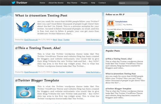 Blogger Template : Twitter