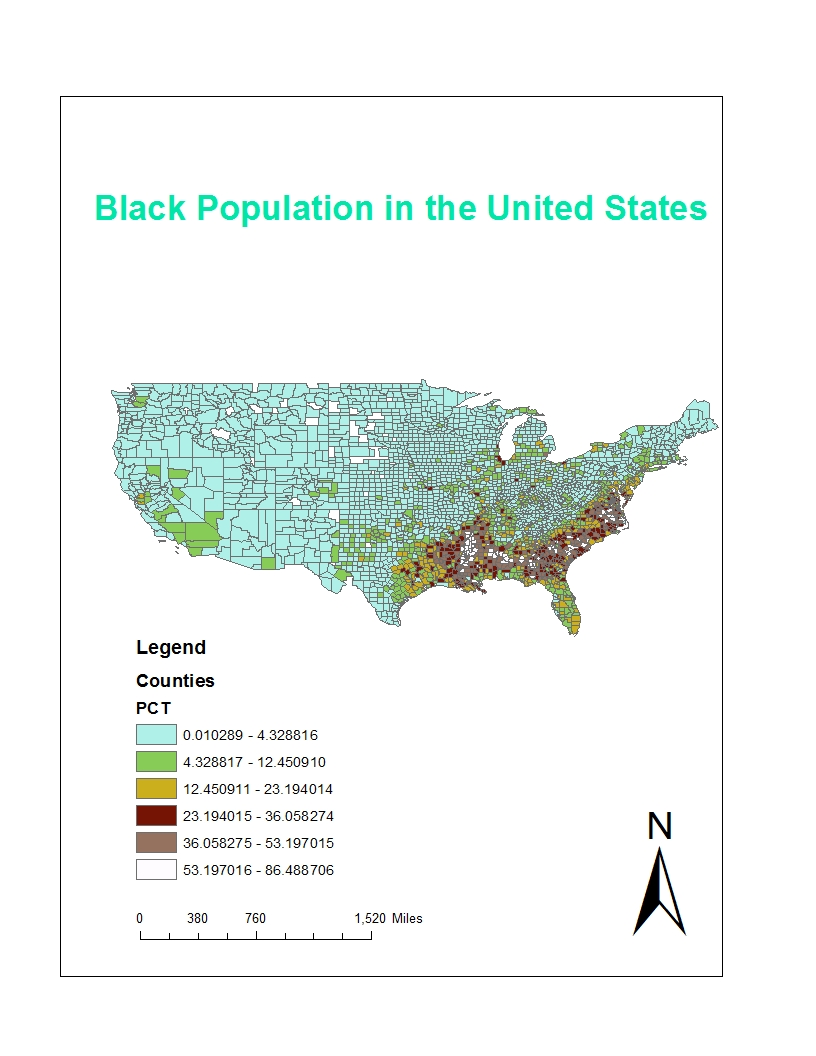 i have created three different maps to compare the population concentration of different races in the united states these maps are based on u s census