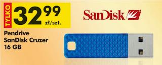 Pendrive SanDisk Cruzer 16 GB z Biedronki ulotka