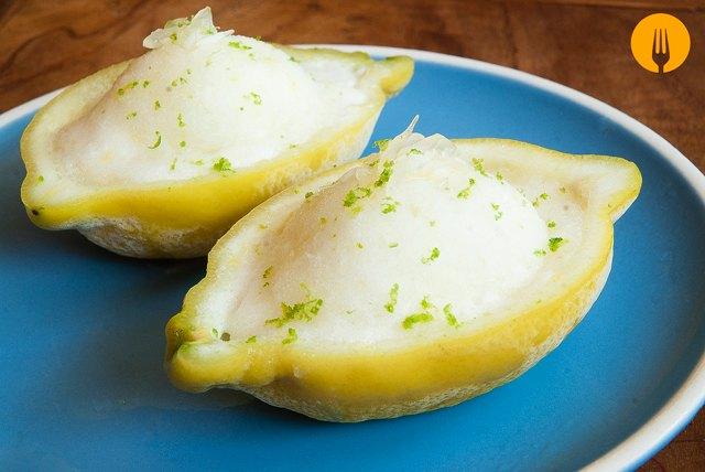receta sorbete limon