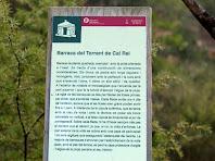Rètol informatiu de la barraca de vinya del Torrent de Cal Rei