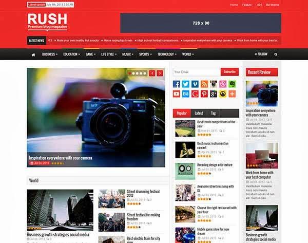 Rush - WordPress Blog & Magazine Theme