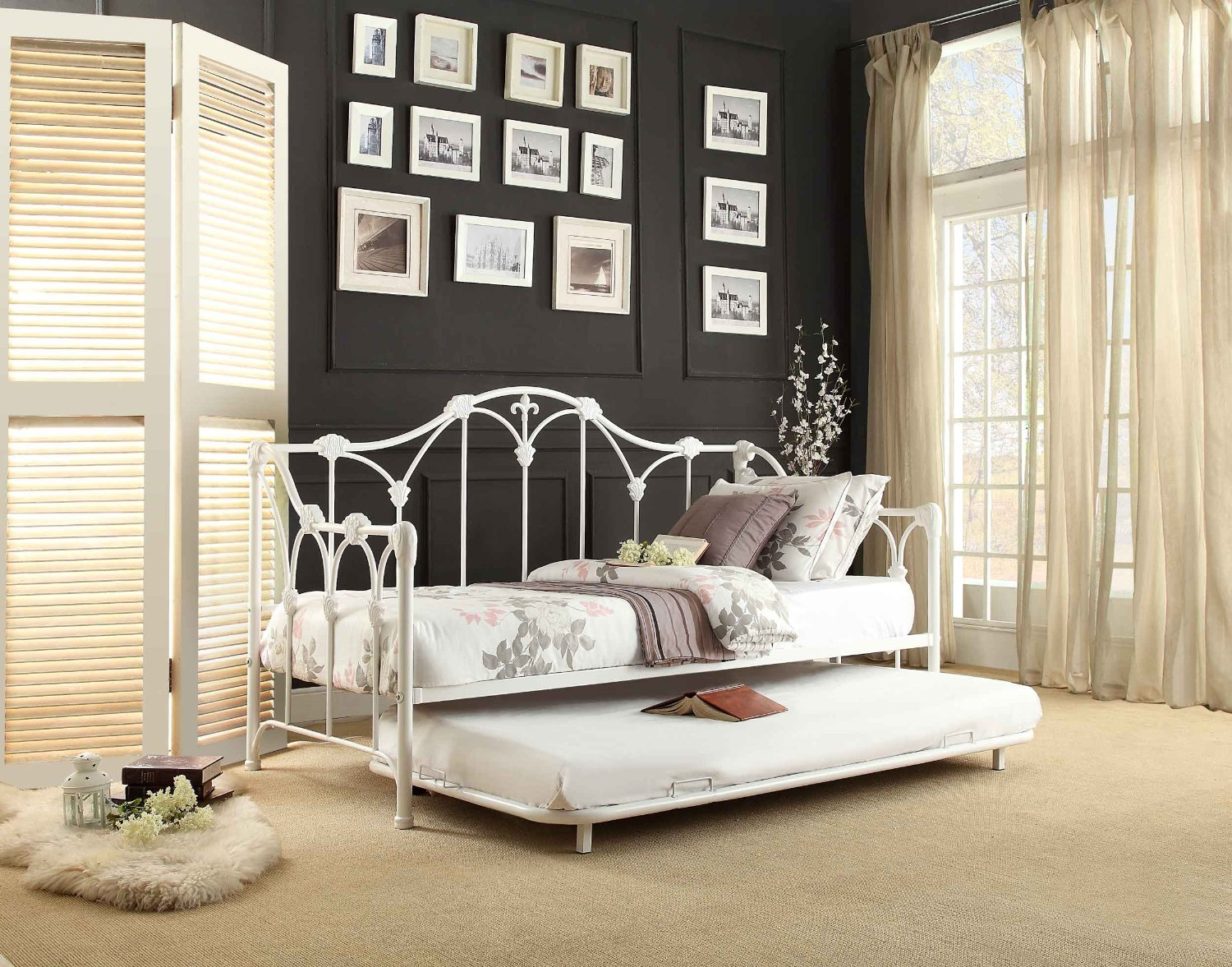 Total Fab Twin Bed with Pull OutSlide Out Trundle Bed
