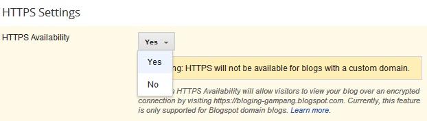 Cara Mengaktifkan HTTPS untuk Keamanan Blog dan Pengunjung Blog