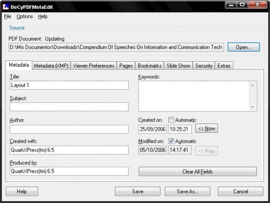 Eliminar la contraseña de un PDF