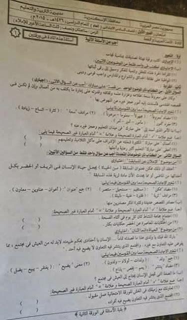 تجميع امتحانات اللغة العربية سادس ابتدائي ترم ثاني 2015 لجميع الادارات التعليمية في جميع محافظات مصر 11251159_1628923610654282_2514373971936383134_n