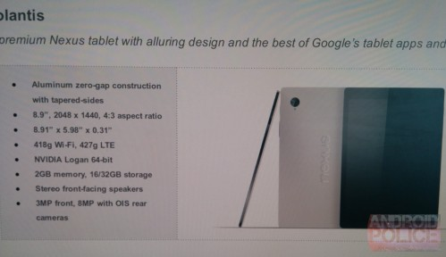 Prezzo e specifiche principali svelate per il nuovo tablet Nexus 9 di Google?