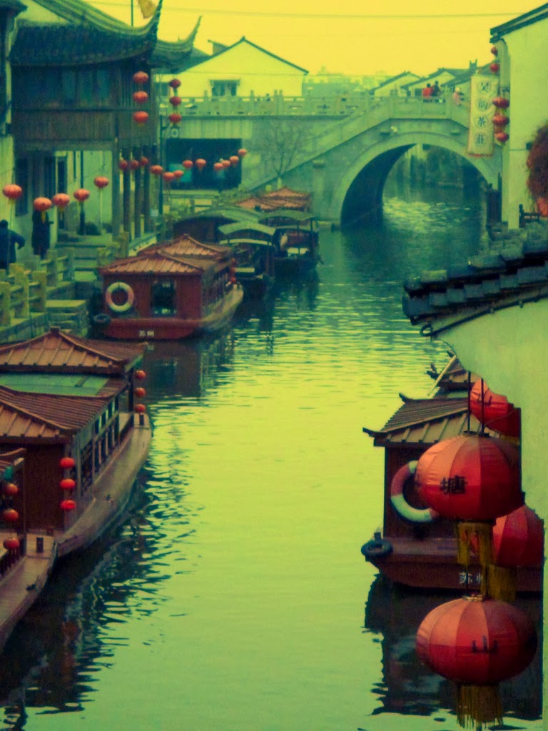 chinese, oriental, river, boats