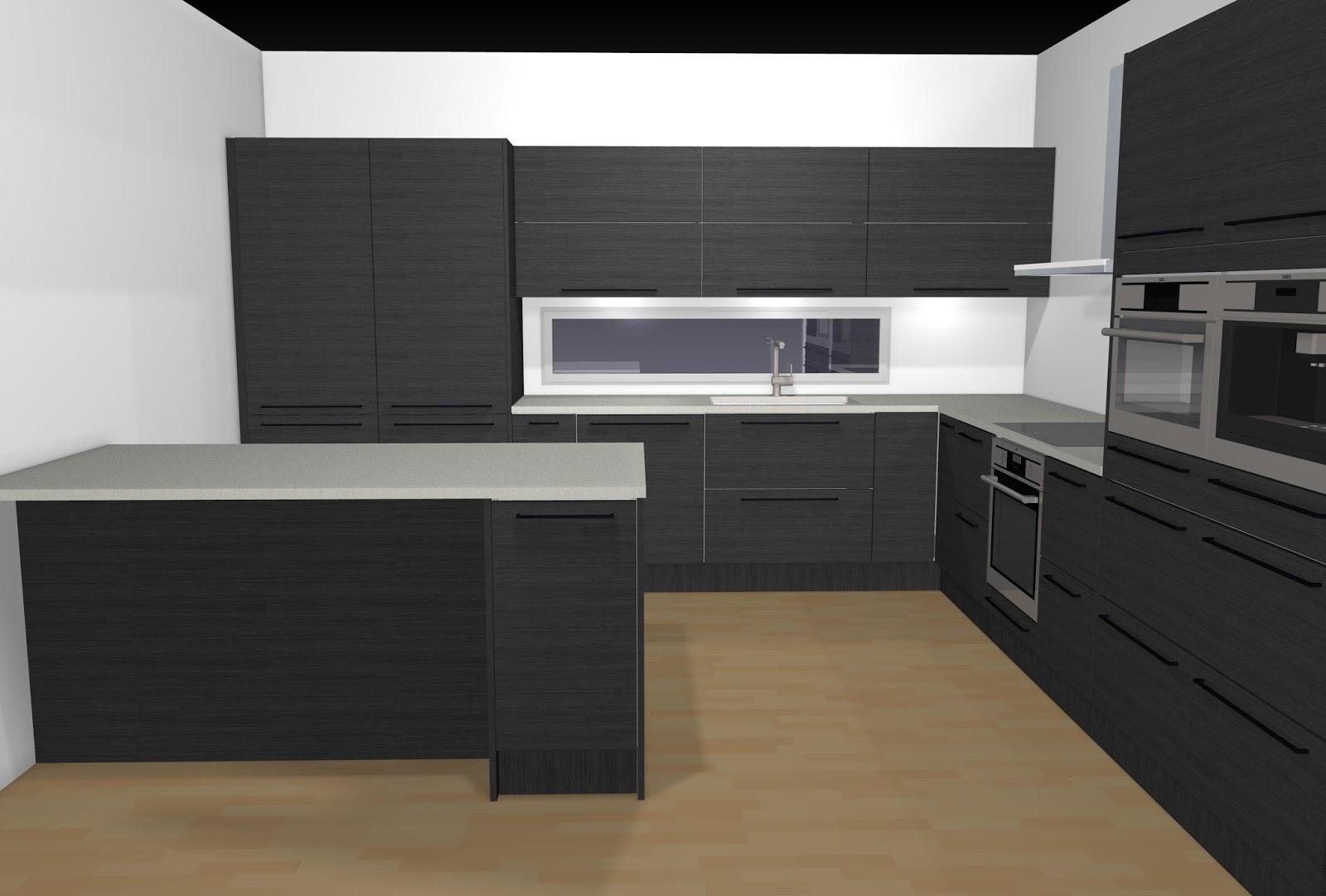 TALO NRO2 Musta keittiö