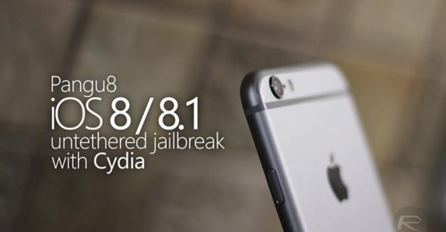 Bản jailbreak Pangu8 cho iOS 8/8.1 đã có cả Cydia