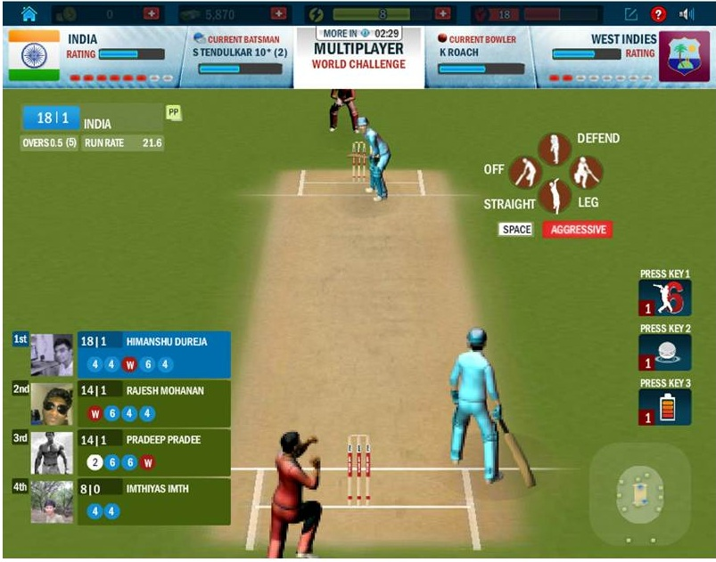 online cricket play