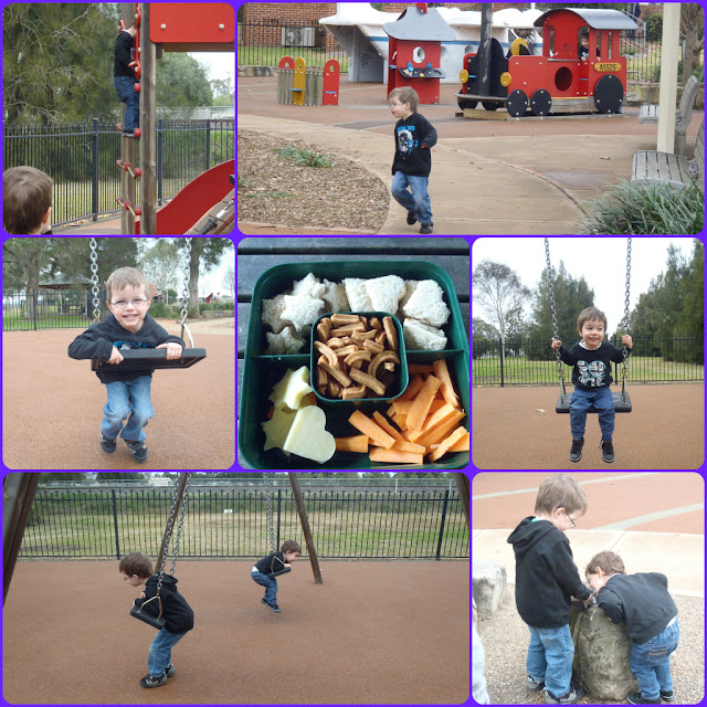 kids playing at park