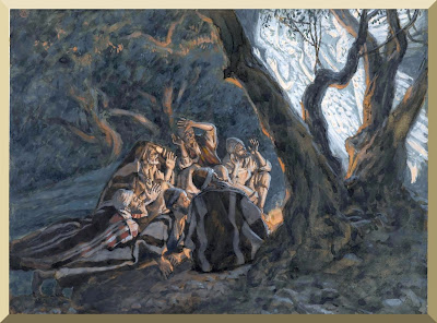 """The Angels And The Shepherds"" -- by James Tissot"