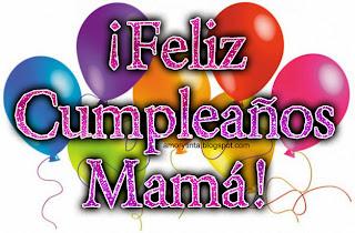 globos de colores para el cumpleaños de mamá