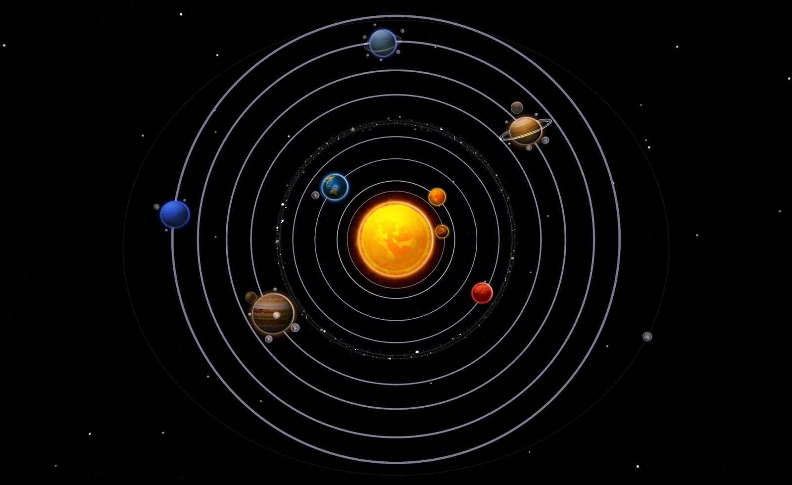 placement of planets solar system - photo #2