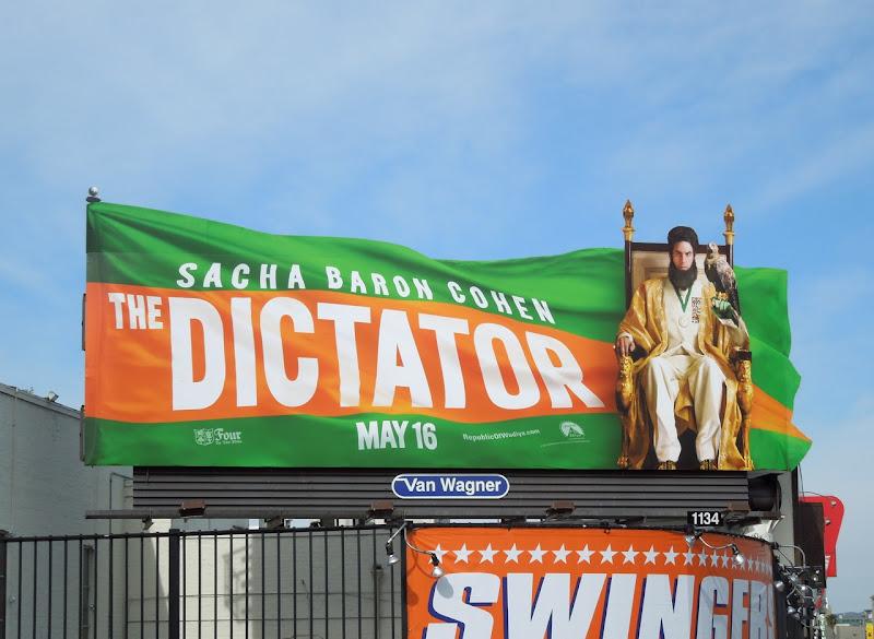 Dictator movie flag billboard
