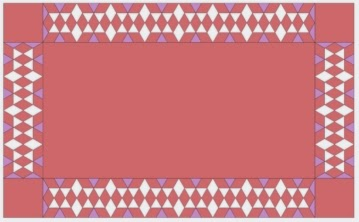 free quilt diamonds design