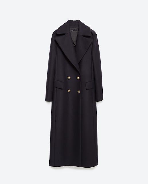 abrigo azul largo