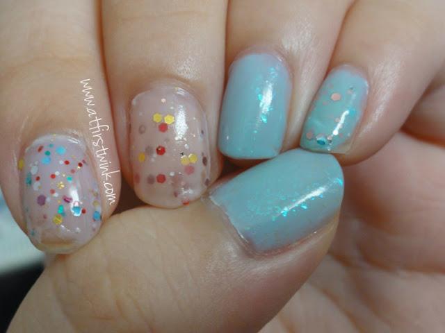 Tony Moly glitter yogurt nails and pa flakies nail polish