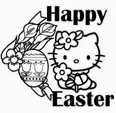 hello kitty easter coloring pages for kids 5 - Kitty Easter Coloring Pages