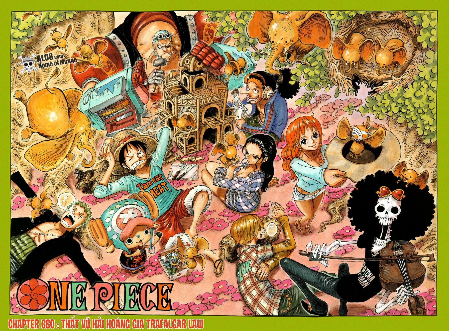 One Piece Chapter 660: Thất Vũ Hải Hoàng Gia Trafalgar Law 002