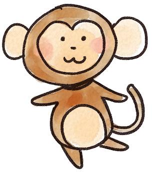 猿のイラスト(申年・干支)