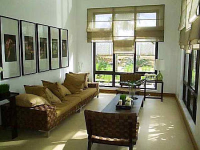 Home office designs decorating a small living room for Office in the living room ideas