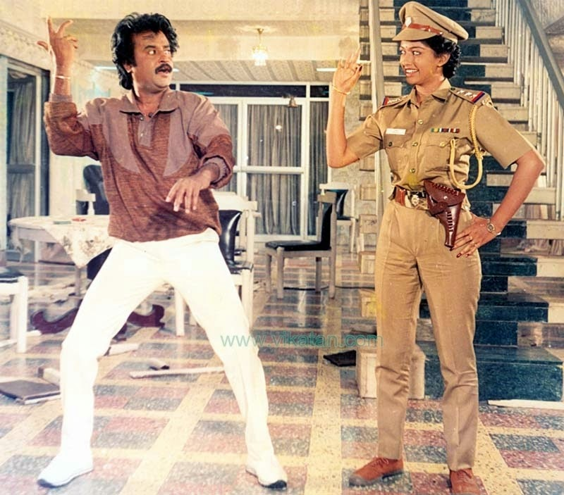 RAJINIKANTH & GOUTHAMI IN 'GURU SHISYAN' MOVIE