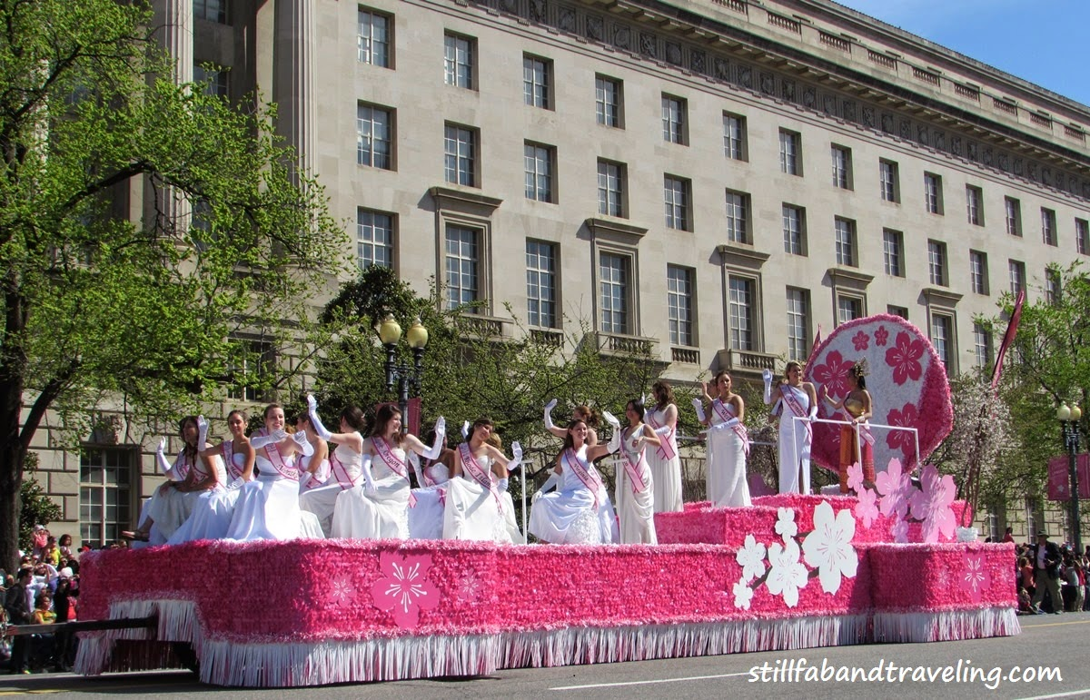 Cherry Blossom parade float - the 2014 princesses