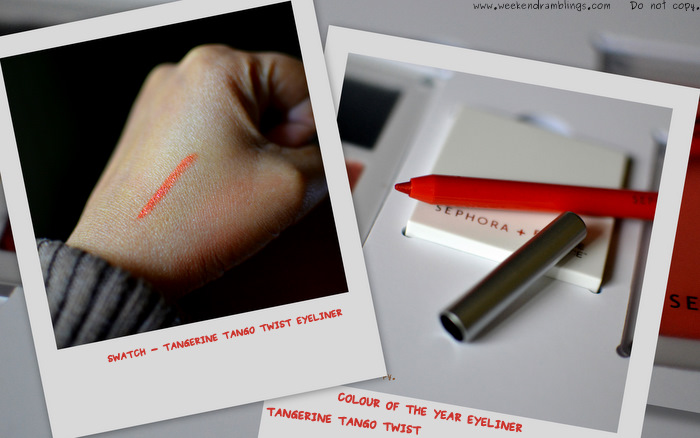 sephora pantone universe colour of the year collection makeup swatches beauty blog 2012 tangerine tango twist eyeliner