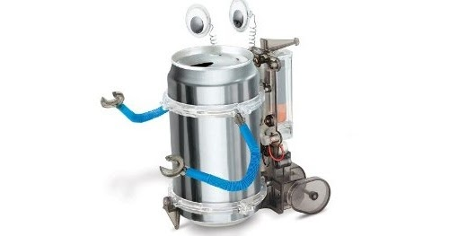 green science tin can robot instructions