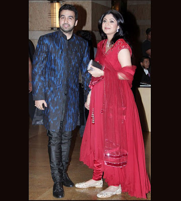 Shilpa and Raj Kundra at Deshmukh Bhagnani Sangeet Ceremony