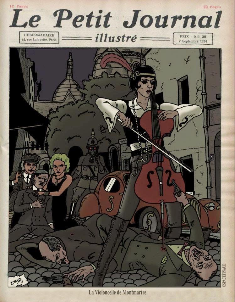 LA VIOLONCELLE DE MONTMARTRE, Montmartre, quartier, Paris, Violoncelle, Le Petit Journal Illustré