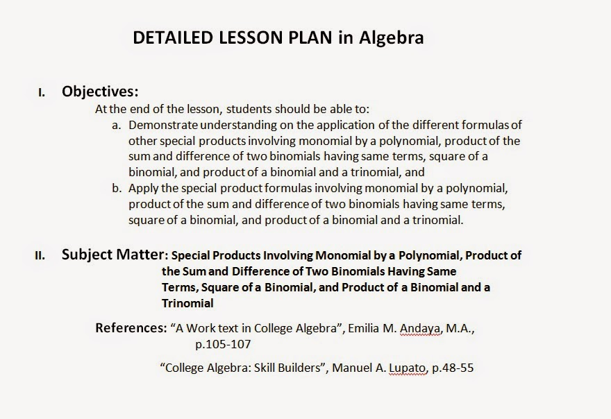 EnvyMath Envyronmental Math Example Of A Detailed Lesson Plan In