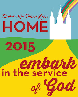 "Young Women in Excellence ""There's No Place Like Home"" 2015 Theme Poster"